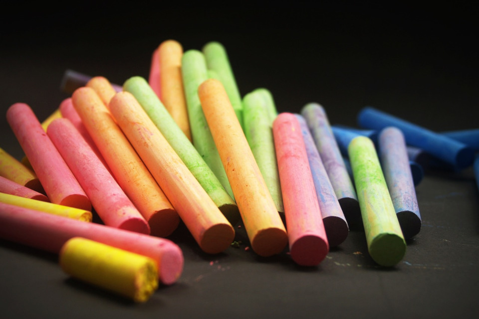 Staubfreie Tafelkreide für Lehrer und Kinder